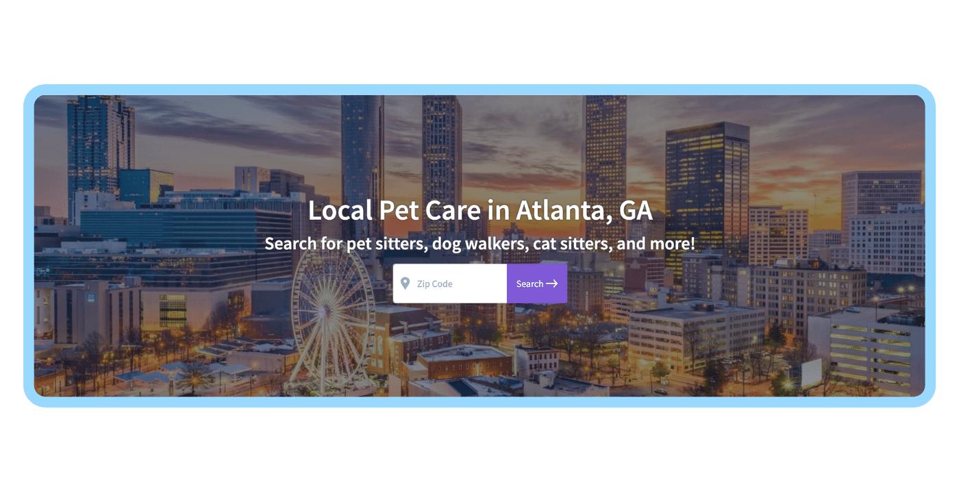 Find a pet care pro - ATL