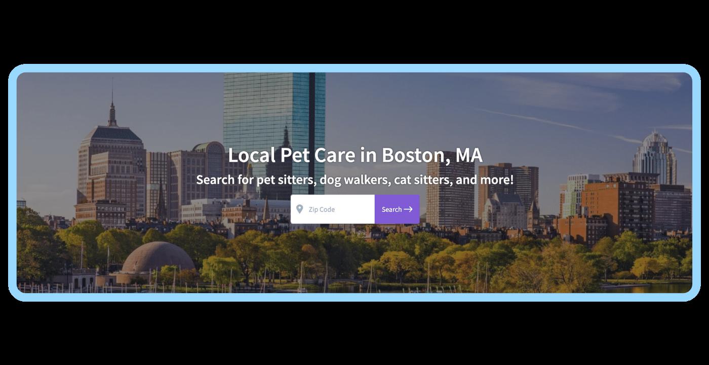 Find a pet care pro - Boston