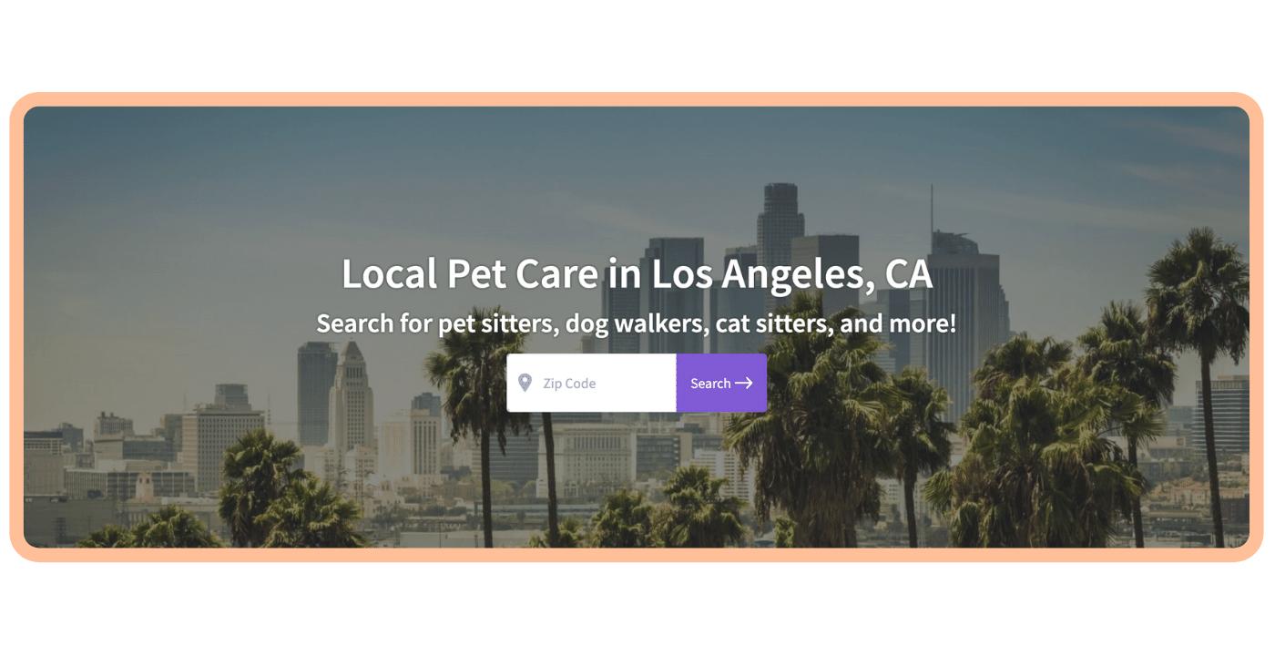 Find a pet care pro - LA