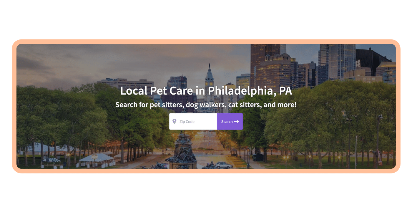 Find a pet care pro - Philly