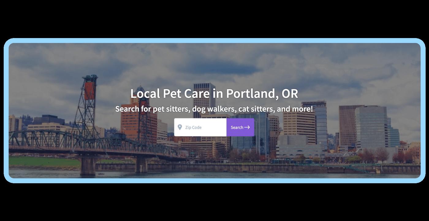 Find a pet care pro - Portland