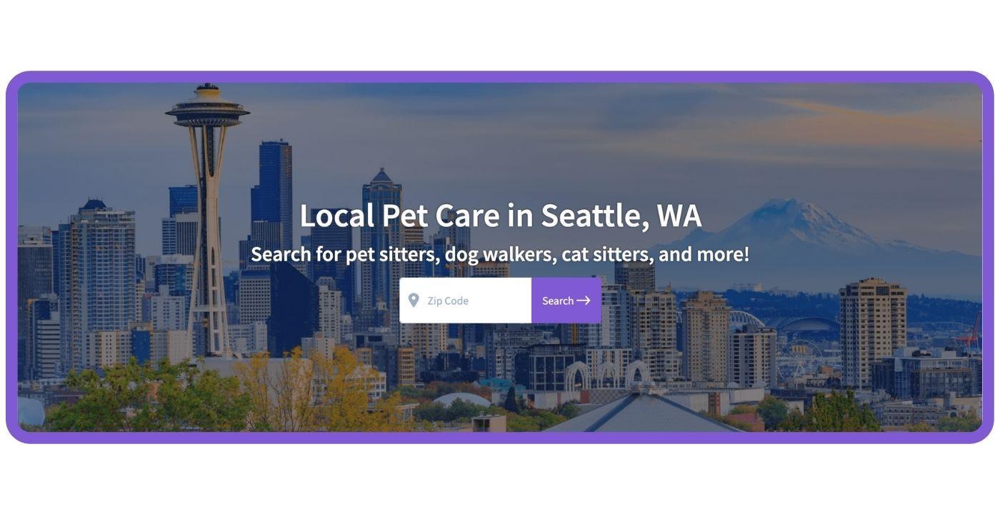 Find Local Pet Care - Seattle Dog Parks CTA