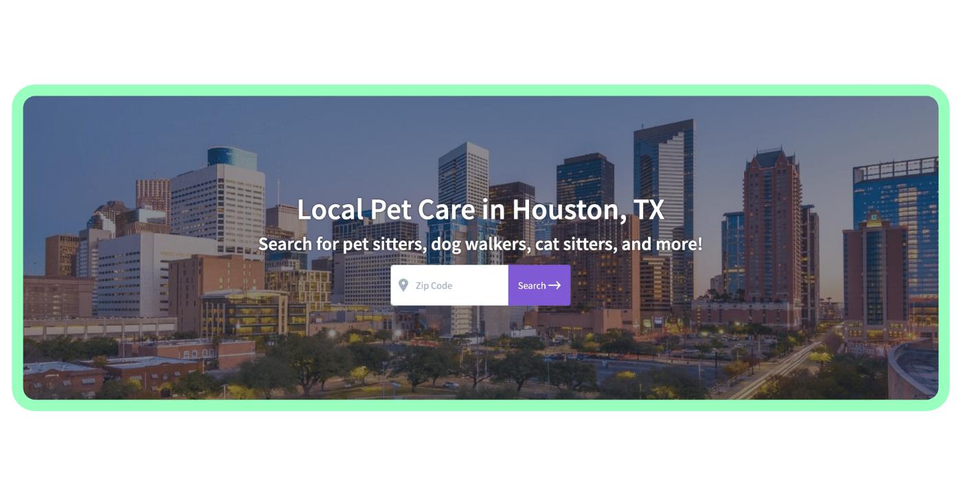 Find a pet care pro - Houston