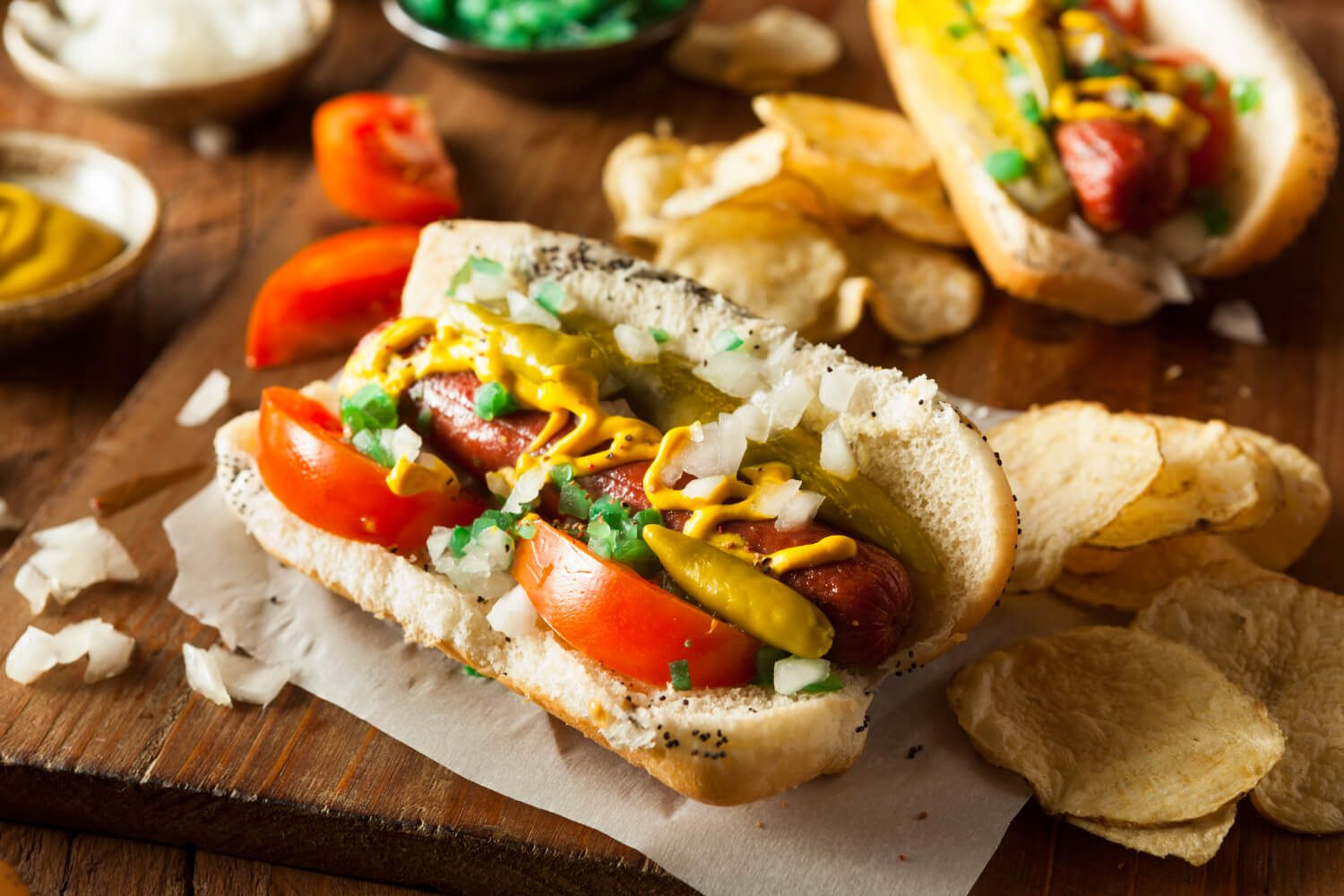 Chicago hot dog for pet-friendly chicago